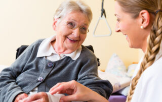 Wound care in a nursing home